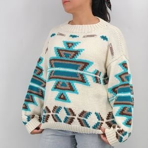 Hand Knitted South Western Style Unisex Sweater